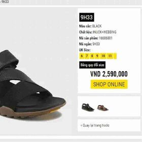Giày sandal 9h33 thái lan