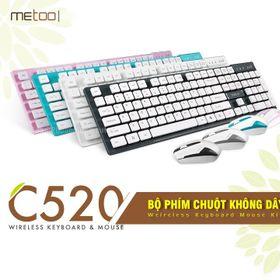 Bộ phím chuột không dây metoo c520