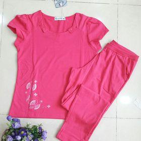 Bộ cotton 4 chiều quần dài tay ngắn