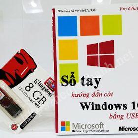 Sổ tay hướng dẫn cài windows 10 pro 64 bit bằng usb