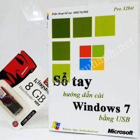 Sổ tay hướng dẫn cài windows 7 pro 32 bit bằng usb