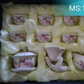 bộ tách trà gốm 12 món