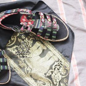 Giày thổ cẩm - handmade - độc đáo giá sỉ