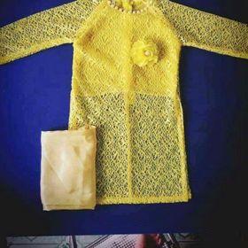 Áo dài cách tân ren cho bé gái - Xưởng may cung cấp quần áo trẻ em giá sỉ
