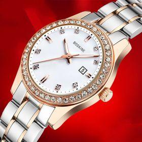 Đồng hồ nữ mặt đá dây thép k gĩ 2 line giá sỉ