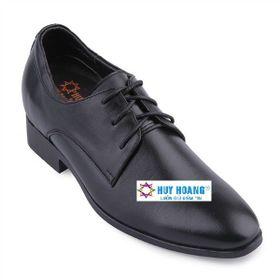 Giày nam tăng chiều cao Huy Hoàng màu đen HR7189 giá sỉ
