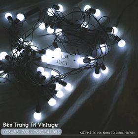 Đèn cherry dây đen - Ánh sáng trắng giá sỉ