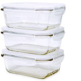 Bộ 3 hộp thủy tinh chữ nhật LockLock 380ml Túi giữ nhiệt giá sỉ