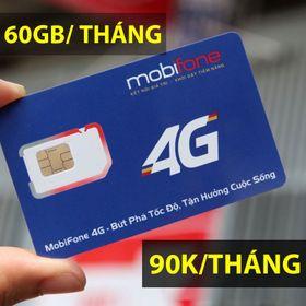 Sim 4G Mobifone C90 60GB/THÁNG nigh thả ga giá sỉ