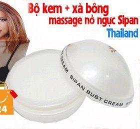 Kem nở ngực Sipan Thái Lan tặng kèm Xà Phồng tắm nở ngực Thái Lan giá sỉ