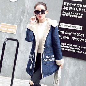 áo khoác jean lót lông giá sỉ
