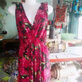 Đầm thun gân trung niên giá sỉ