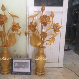 Lọ hoa sen gỗ mít giá sỉ