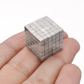 Nam châm Buckyballs 3mm Hình vuông 216 viênBạc giá sỉ