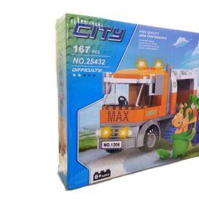 Lắp ráp City 167 mảnh ghép Xe tải rác Mã sản phẩm 25432 giá sỉ
