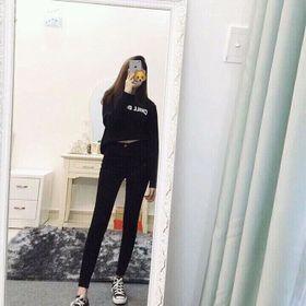 kaki jean dài trơn