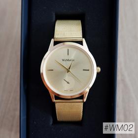 Đồng hồ nữ dây kim loại không gỉ sáng lấp lánh ánh kim - bán siêu chạy
