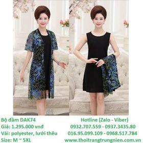 Đầm Polyester lưới thêu DAK74 – Size M5XL – giá sỉ