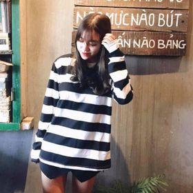 Áo thun dài tay nữ Unisex Just-P Kẻ to đen trắng giá sỉ