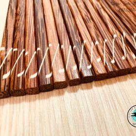 Đũa dừa Bến Tre đầu vuông dây đàn – 10 đôi giá sỉ
