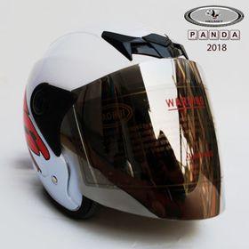 Mũ phượt 3/4 trắng đỏ NTMax giá sỉ