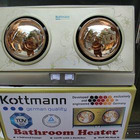 Đèn sưởi nhà tắm Kottmann 2 bóng vàng giá sỉ