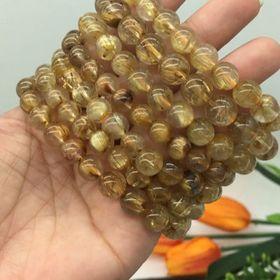 Vòng Tay Đá Thạch Anh Tóc Vàng hàng đẹp 9 li giá sỉ