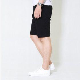 Quần short kaki nam HQ chất vải đẹp màu đen