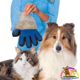 Găng tay chải lông rụng cho chó mèo giá sỉ