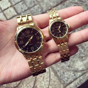 Đồng hồ đôi kim loại HALEI giá sỉ