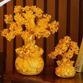 Cây Tài Lộc Đá Thạch Anh Vàng Thiềm Thừ 215Cm giá sỉ