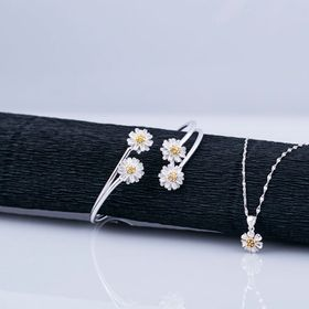 Opal - Bộ trang sức bạc hoa mai giá sỉ