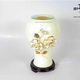 Đèn xông tinh dầu Gốm Hoa nổi TNS2 Có eo giá sỉ