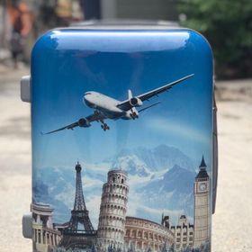 bộ đôi vali nhựa kéo gồm size 20 và size 24 hàng Việt nam giá sỉ