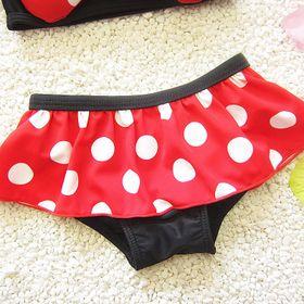 Đồbơi đồ tắm bikini bé gái 3 mảnh Chuột Mickeychấm bi giá sỉ