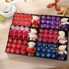 Hoa Hồng 3D Sáp 12 Bông Kèm Gấu Sweet Love ( đủ màu ) giá sỉ