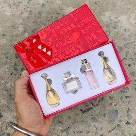 Set nước hoa Diors 4 chai hộp đỏ giá sỉ