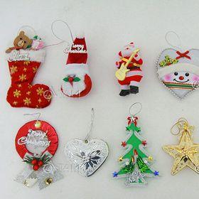 Combo 10 món phụ kiện trang trí Noel handmade XMAS-09 giá sỉ