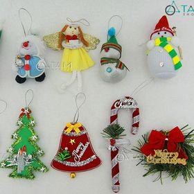 Combo 10 món phụ kiện trang trí Noel handmade XMAS-08 giá sỉ
