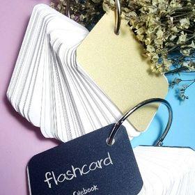 flashcard bìa trắng giá sỉ