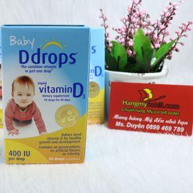 Baby Ddrops Vitamin D3 cho trẻ sơ sinh 90 giọt có bill nhập giá sỉ