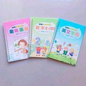 set 3 sách tô màu thông minh kèm bút cho bé giá sỉ