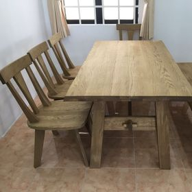 Bộ bàn ăn gỗ Sồi Oak Solid giá sỉ