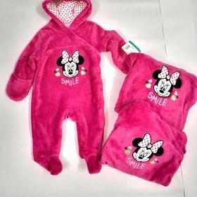 Bộ Body Suit Hồng Đậm cho Bé dưới 1 tuổi - Hàng Mỹ Disney Baby giá sỉ