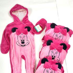 Bộ Body Suit Hồng Nhạt cho Bé dưới 1 tuổi - Hàng Mỹ Disney Baby giá sỉ