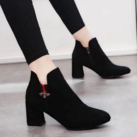giày bot cao got vuông giá sỉ