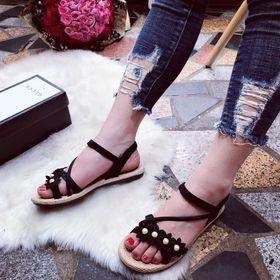 Giày sandal hoa châu giá sỉ