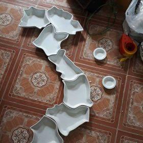 Bộ đĩa ăn hình bản đồ Việt Nam giá sỉ