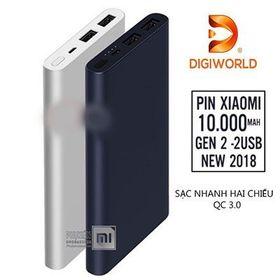 Pin Xiaomi Gen2S 10000mah 2 USB - Digiworld Phân Phối giá sỉ