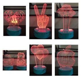 Loa Đèn để bàn có led 3D nhiều hình giá sỉ